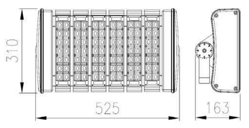 180w aluminum led tunnel light