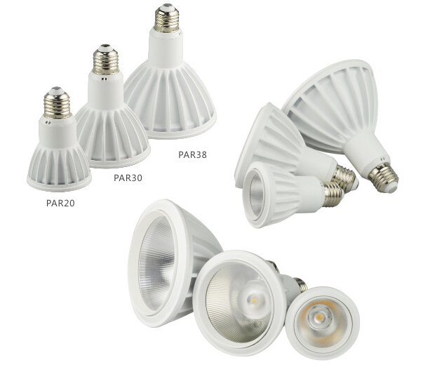 Aluminum 18W Par38 LED Spot Light Dimmable E27 Cree 1580lm