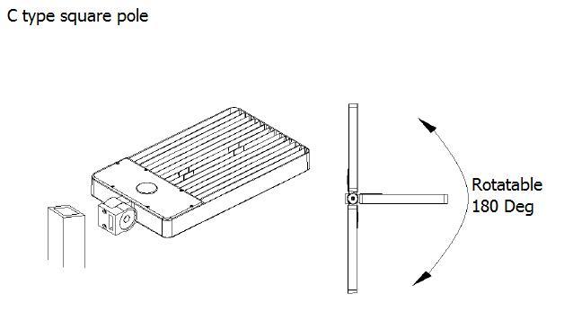 waterproof led shoebox light 160 w 20800 lumen meanwell