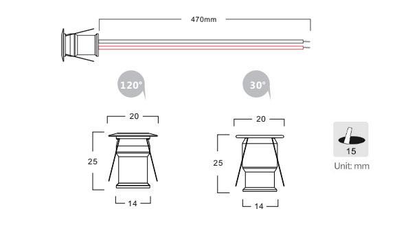mini led recessed lighting  1w  98lm  w  120  u00b0   30 u00b0beam angle led downlight kit