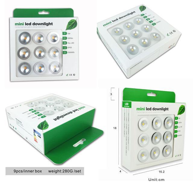 CRI 80 1 Watt Small Recessed LED Downlights 98LM/W For Washroom ...