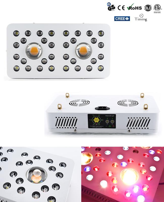 410-760nm Full spectrum LED indoor Grow Lights 200Watt with 6 channels timing system