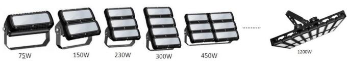 300 Watt 155lm / W Waterproof Led Flood Light IP65 , Led Sports Field Lighting