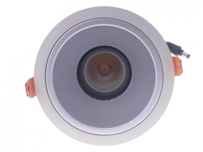 Adjustable / Fixed Head 36W COB LED Down Light 24°38°Beam Angle For Clothes Shop Lighting