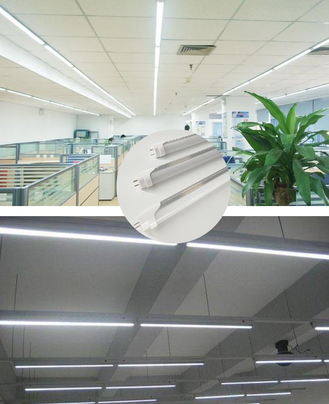 IP20 1200mm 4' T8 LED Tube Light 2800W Frosted Cover Internal Driver For Shopping Mall