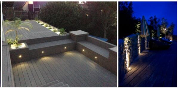 1W Outdoor LED Step Lights 3000K DC12V / Stainless Steel Material LED Stair Lights