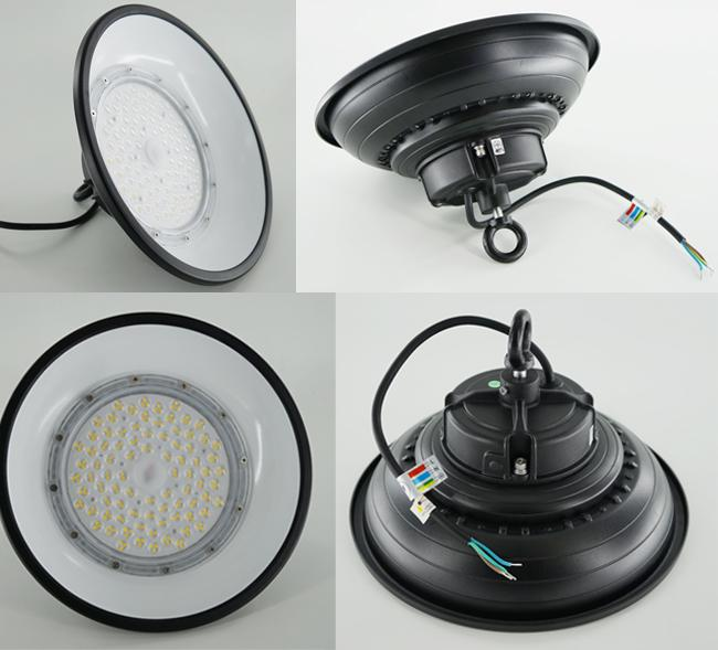 100W UFO LED High Bay Lights With Anti - Glare Cap 150LM/W Beam 110°