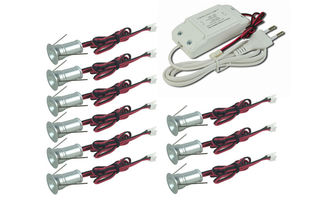 China 1W *9pcs Dimmable LED Down Lights kit , 98lm*9, R/G/B color 85-277Vac ressessed spotlights supplier