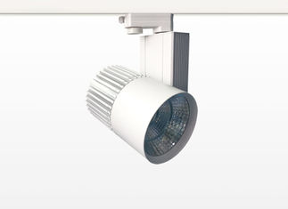 China 35W/40W/45W/50W COB LED Track Lights 2/3/4 Wire 24 Degree Aluminum For Supermarkets supplier
