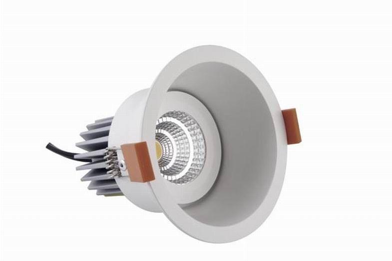 energy saving 9 watt 850lm dimmable led down lights cob. Black Bedroom Furniture Sets. Home Design Ideas