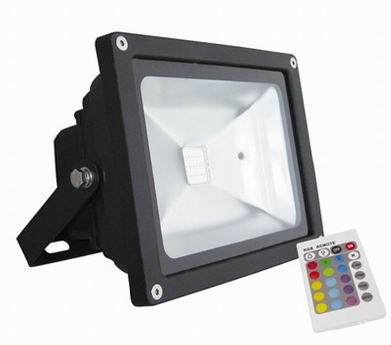 3000K 6500K Outdoor RGB LED Flood Light Remote Control
