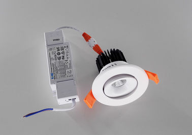 China Indoor 8W Aluminum LED Recessed Downlight With DALI Dimming For Residential / Hotels factory